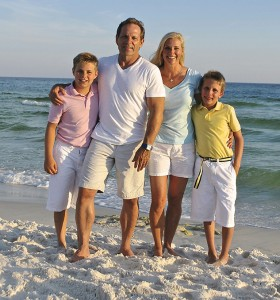 Wells family beach photo
